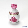 Herend 'Chinese Bouquet Pink / Apponyi' AP 06043-0-17 Standing Egg Box (Butterfly knob) 5.5xH8.5cm