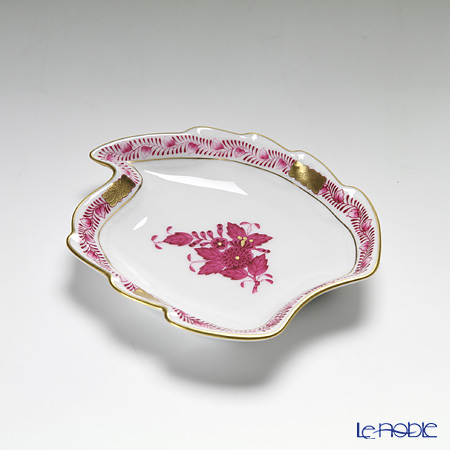 Herend 'Chinese Bouquet Pink / Apponyi' AP 07774-0-00 Leaf Ashtray 12cm