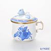 Herend 'Chinese Bouquet Blue / Apponyi' AB 00385-0-09 Covered Cream Pot (Rose knob) 100ml