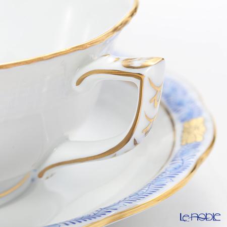 ヘレンド アポニーブルー 00734-0-00/734ティーカップ&ソーサー(ロウ)