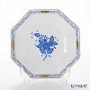 ヘレンド アポニーブルー 04304-1-00小皿(オクタゴナル) 13.5cm