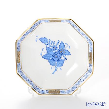 ヘレンド アポニーブルー 04307-0-00小皿(オクタゴナル) 11cm