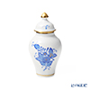 Herend 'Chinese Bouquet Blue / Apponyi' AB 06574-0-15 Mini Vase with lid H9.2cm