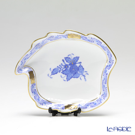 Herend 'Chinese Bouquet Blue / Apponyi' AB 07774-0-00 Leaf Ashtray 12cm