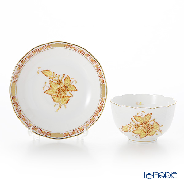 Herend 'Chinese Bouquet Yellow / Apponyi' AJ 00710-0-91/711 Japanese Cup & Saucer 130ml