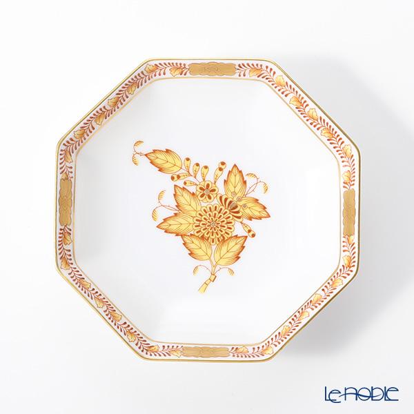 ヘレンド アポニーイエロー 04307-0-00小皿(オクタゴナル) 11cm