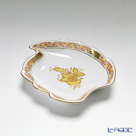 Herend 'Chinese Bouquet Yellow / Apponyi' AJ 07774-0-00 Leaf Ashtray 12cm