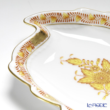 Herend Chinese Bouquet Yellow / Apponyi Jaune AJ 07774-0-00 Leaf Ashtray 12cm