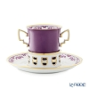 [Advance Sale] Augarten [300th Anniversary] 'Amalia' Purple Chocolate Cup & Saucer 200ml