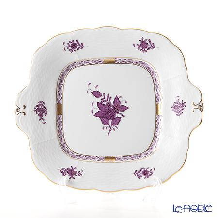 ヘレンド アポニーライラック 00431-0-00 四角ケーキ皿 28×25cm