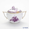 Herend 'Chinese Bouquet Lilac / Apponyi' AL 00472-0-09/666 Covered Sugar Pot (Rose knob) 200ml knob