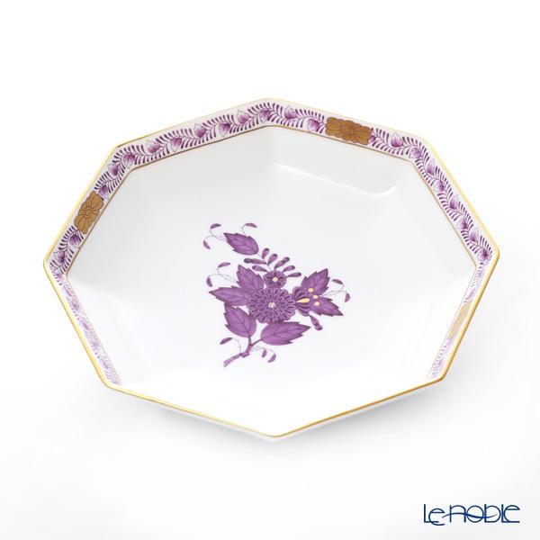 ヘレンド アポニーライラック 小皿(オクタゴナル) 13.5cm 04304-1-00