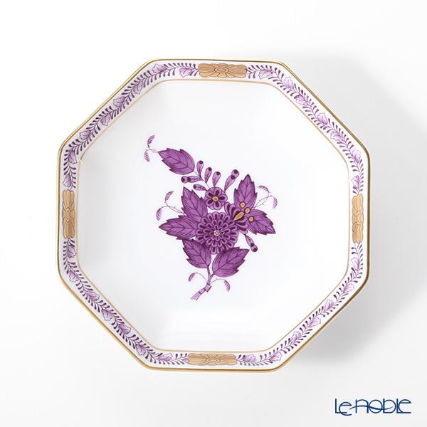ヘレンド アポニーライラック 04307-1-00 小皿(オクタゴナル) 11cm