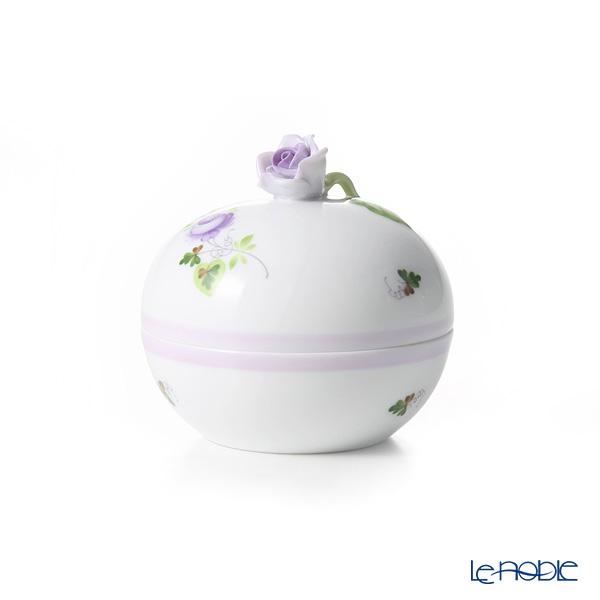 Herend 'Vienna Rose Lilac / Vieille Rose de Herend' VRHL 06033-0-09 Round Box (Rose knob)