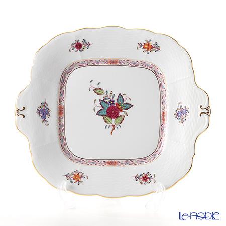 ヘレンド アポニーフラワー 00431-0-00 四角ケーキ皿 28×25cm