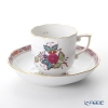 Herend Apponyi Flower / Chinese Bouquet AF 00707-0-00 Multi-Color Mocha Cup & Saucer 150ml