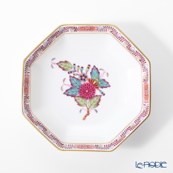 ヘレンド アポニーフラワー 04307-0-00 小皿(オクタゴナル) 11cm