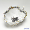 Herend Chinese Bouquet Black / Apponyi Gris ANG 00492-0-00 Sugar Bowl (Leaf shape) 10.5cm