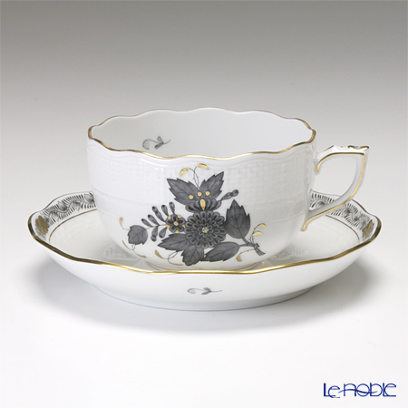 ヘレンド アポニーブラック 00724-0-00/724 ティーカップ&ソーサー 200cc