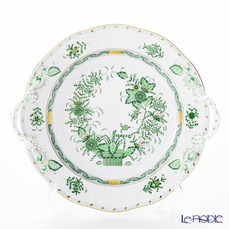 ヘレンド インドの華グリーン 00175-0-00 丸ケーキプレート 27cm