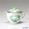 ヘレンド インドの華グリーン 00472-0-09/666シュガーポット(ローズ) 200cc