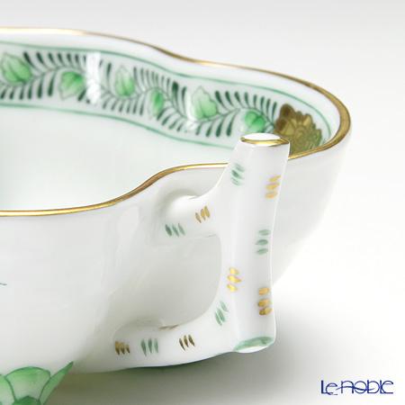 ヘレンド インドの華グリーン 00492-0-00/680オープンシュガー 10.5cm
