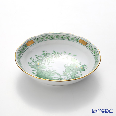 Herend Indian Basket Green / Fleurs des Indes Vert FV 00704-1-00 Fruit Bowl 14cm