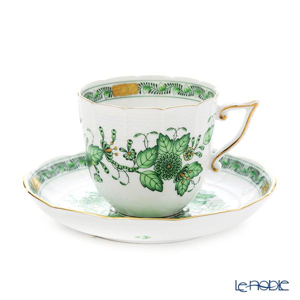 ヘレンド インドの華グリーン 00706-0-00/706 コーヒーカップ&ソーサー 160cc