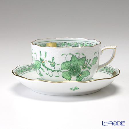 ヘレンド インドの華グリーン 00724-0-00/724 ティーカップ&ソーサー 200cc