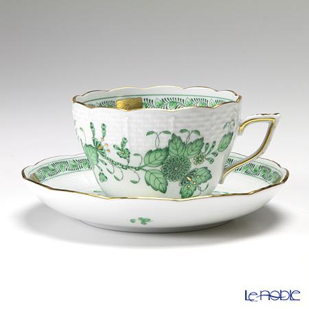 ヘレンド インドの華グリーン 00730-0-00/730 ティーカップ&ソーサー(兼用) 200cc