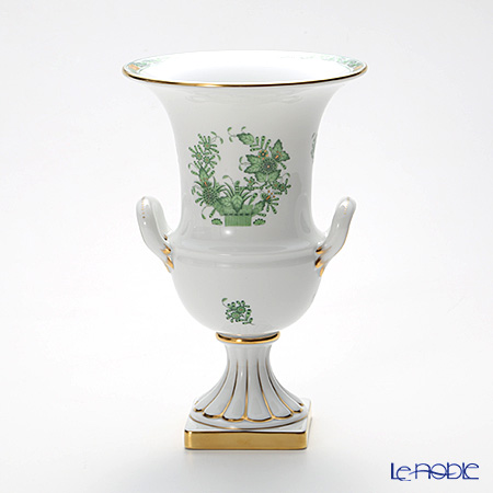 ヘレンド インドの華グリーン 06431-0-00/6431ベース 24cm