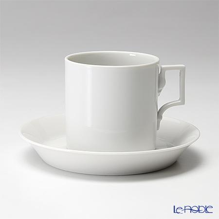 アウガルテン(AUGARTEN) ハプスブルクホワイト(1000)コーヒーカップ&ソーサー 0.15L(059)