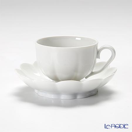 アウガルテン(AUGARTEN) メロン ホワイト(1000) モカカップ&ソーサー 0.05L(015)