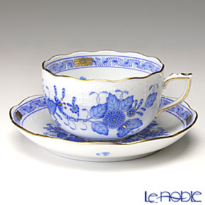 ヘレンド インドの華ブルー 00724-0-00/724 ティーカップ&ソーサー 200cc