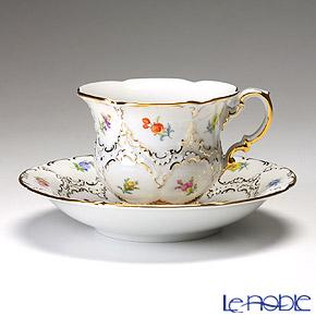 マイセン(Meissen) スキャタードフラワー(金彩縁) 010198/15582 コーヒーカップ&ソーサー 200cc