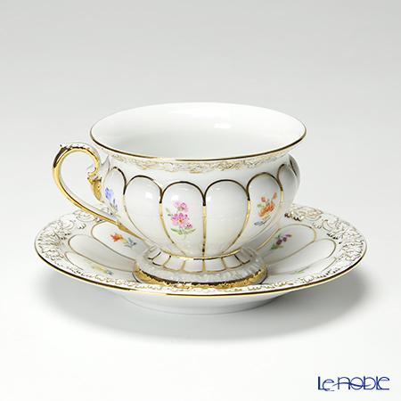マイセン(Meissen) スキャタードフラワー(金彩縁) 010198/17582コーヒーカップ&ソーサー 200cc