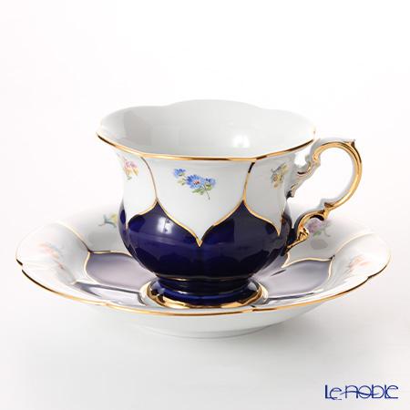 マイセン(Meissen) 宮廷の小花 011098/16582 コーヒーカップ&ソーサー 200cc(紺金彩)