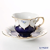 Flower 011098 / 16582 Court, Meissen (Meissen) Coffee Cup & Saucer 200 cc (dark gold)