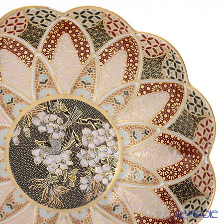 現代の京薩摩×アウガルテン磁器工房 小皿(豆皿) 9cm青い鳥 絵付:伝統工芸士 小野多美枝氏 -空女-