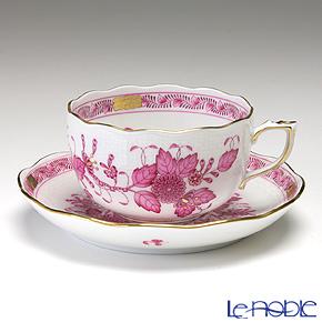 ヘレンド インドの華ピンク 00724-0-00/724 ティーカップ&ソーサー 200cc