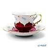 Meissen 'Strewn Flowers Simple' Red (B-Form) 012098/16582 Coffee Cup & Saucer 200ml