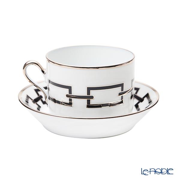 Ginori 1735 / Richard Ginori 'Catene - Nero / Impero' Black Tea Cup & Saucer 220ml