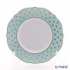 Richard Ginori Gigli Aquamarine Flat dessert plate cm 22 in. 7 3/4 Museo shap
