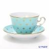 Richard Ginori Gigli Aquamarine Tea Cup & Saucer 270 cc Museo shape