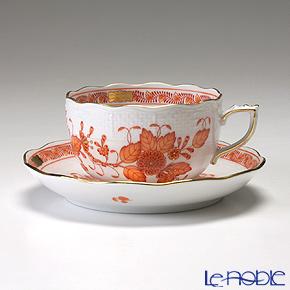 ヘレンド インドの華オレンジ 00724-0-00/724 ティーカップ&ソーサー 200cc