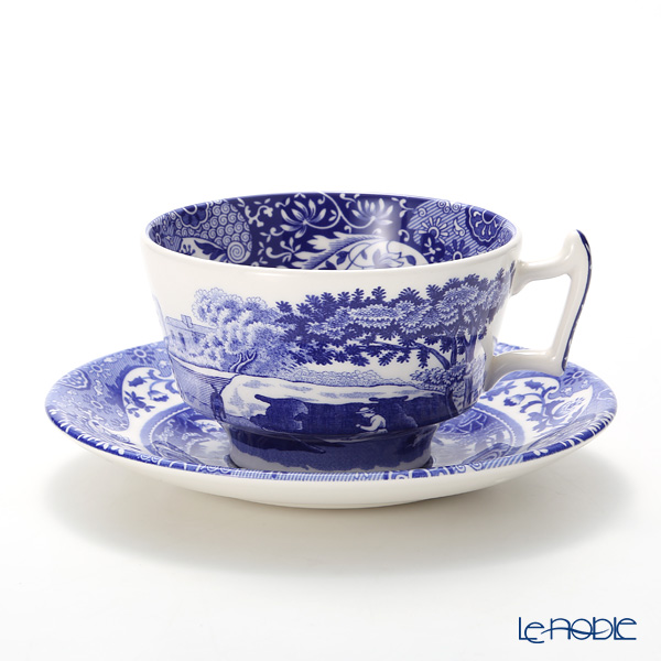 Spode Blue Italian Teacup & Saucer