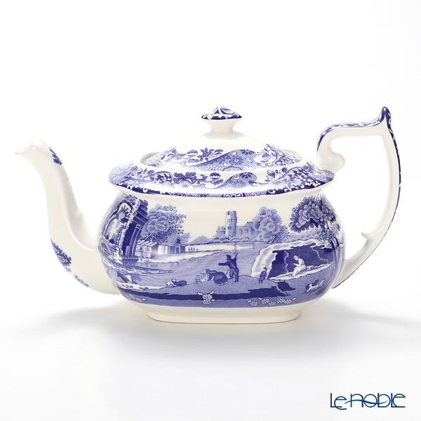 Spode Blue Italian Teapot, large 1.1 ltr
