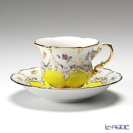マイセン(Meissen) 宮廷の小花 013098/15582 コーヒーカップ&ソーサー 200cc(黄金彩)
