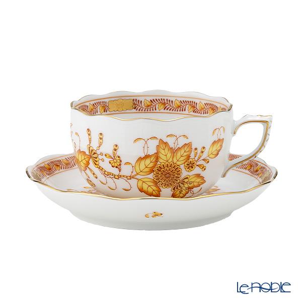 ヘレンド インドの華イエロー 00724-0-00/724 ティーカップ&ソーサー 200cc