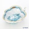 Herend 'Indian Basket Turquoise Blue / Fleurs des Indes' FTQ 00492-0-00/680 Sugar Bowl (Leaf shape) 10.5cm